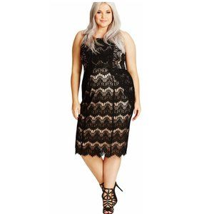 City Chick Black Lace Siren Cocktail Party Dress